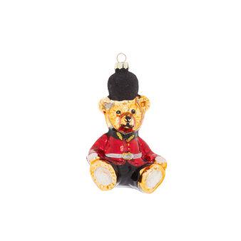 Hand-decorated teddy bear decoration