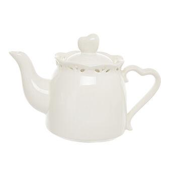 Openwork ceramic teapot