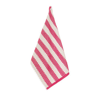 100% cotton terry tea cloth with geometric weave