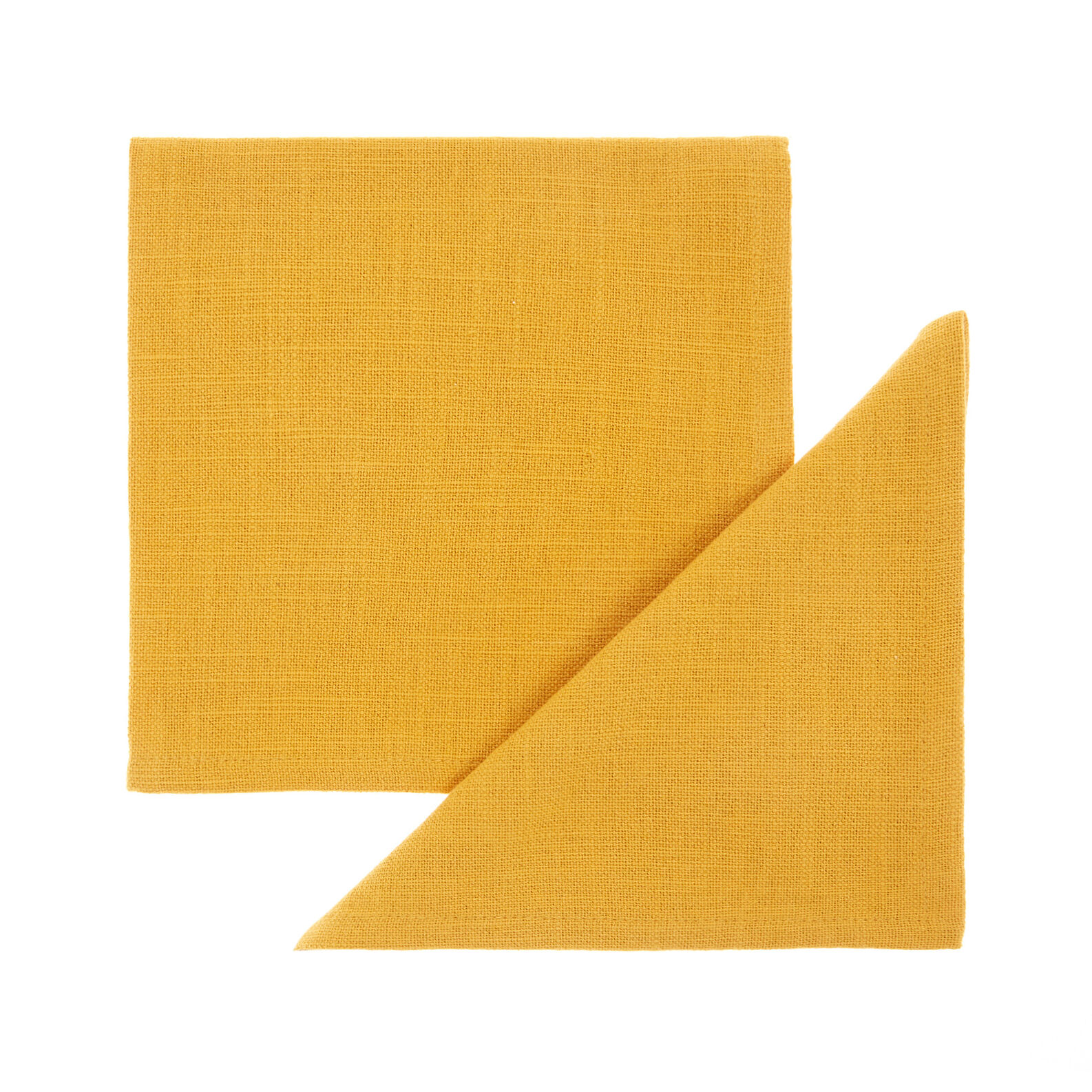 Set of 2 solid colour napkins in 100% iridescent cotton