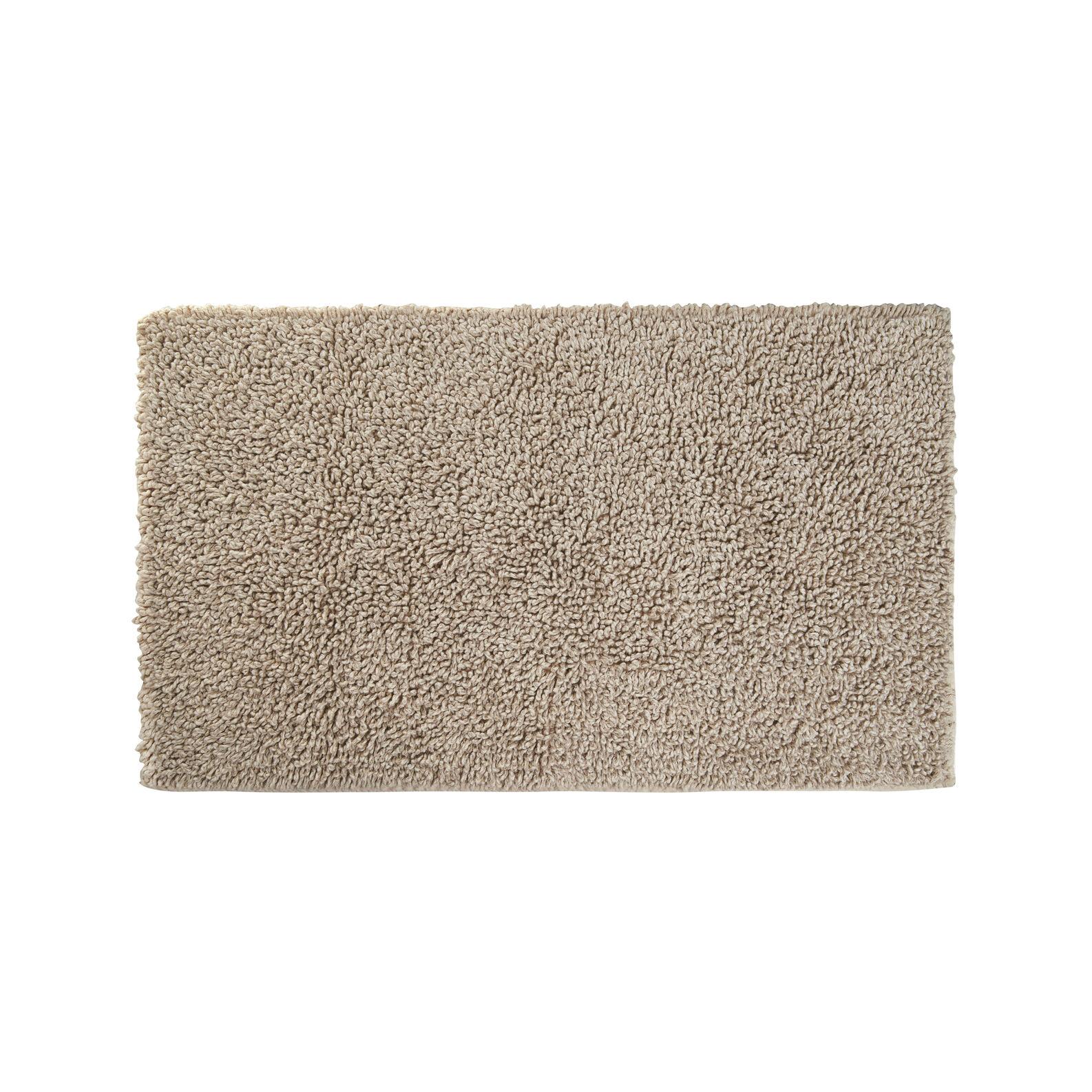Thermae linen blend bath mat