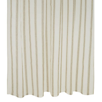 Striped bouclé curtain with concealed loops