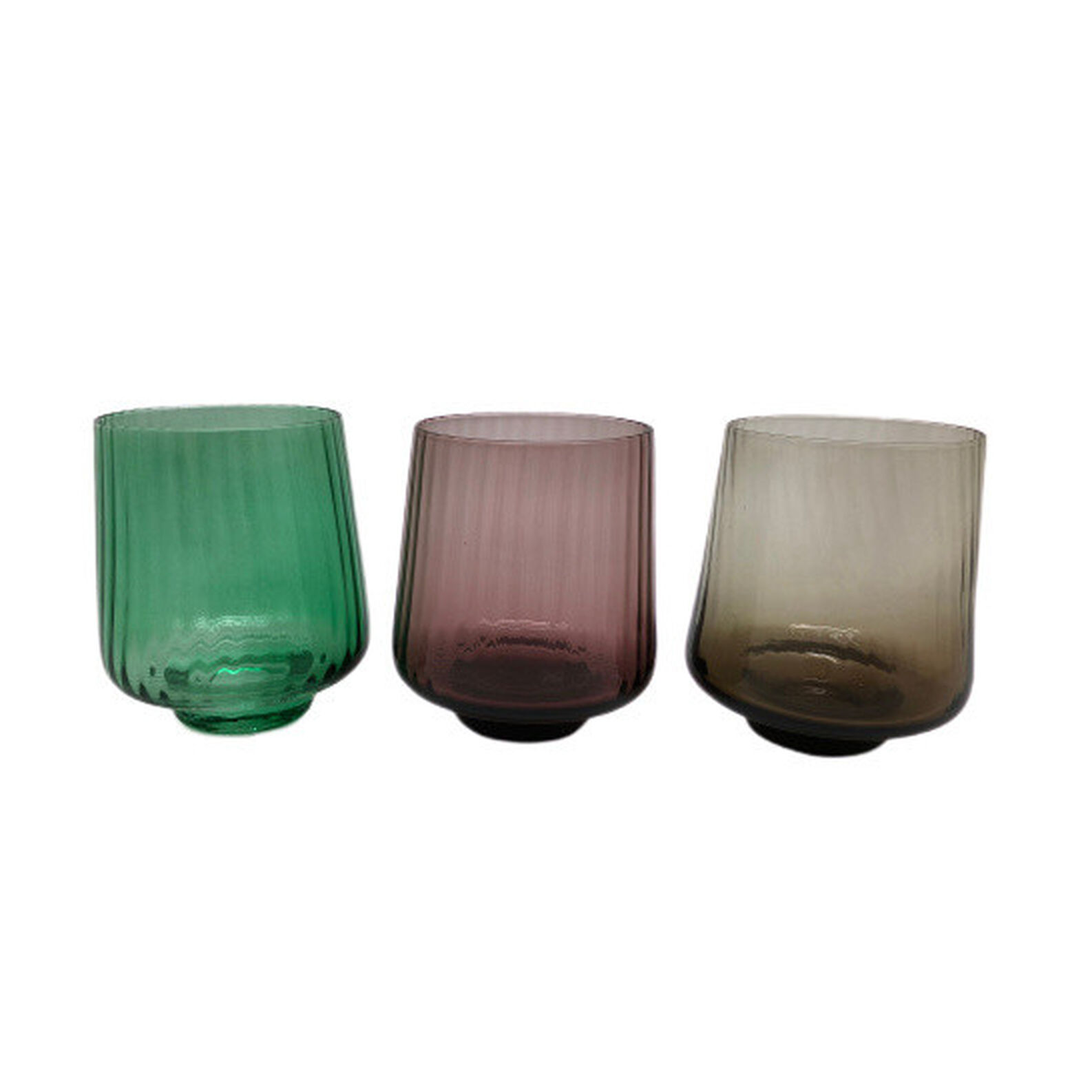 Coloured optical glass water tumblers
