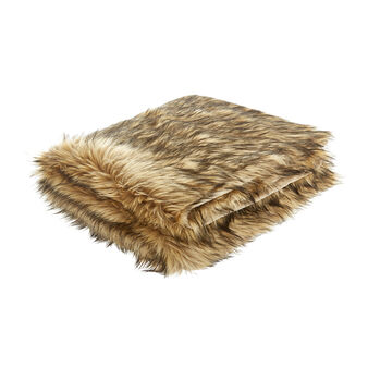 Long fur-effect throw