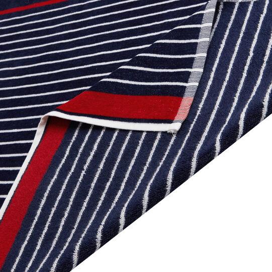 Multi-line velour cotton beach towel