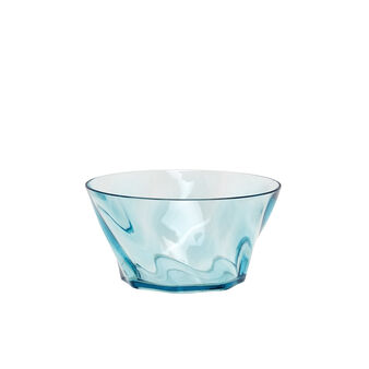 Small plastic bowl with wave effect