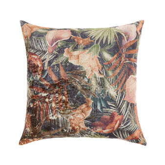 Velvet cushion with vintage effect (45x45cm)
