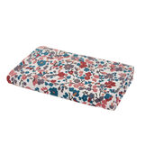 Cotton velour towel with floral print