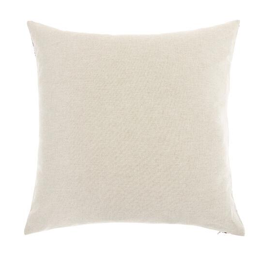 Jacquard cushion with damask pattern