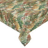 Recycled fabric tablecloth with fern print