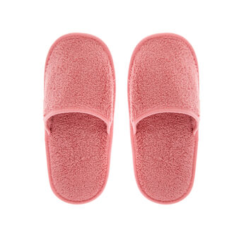 Solid colour terry slippers