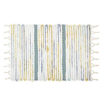 Tappeto bagno cotone a righe