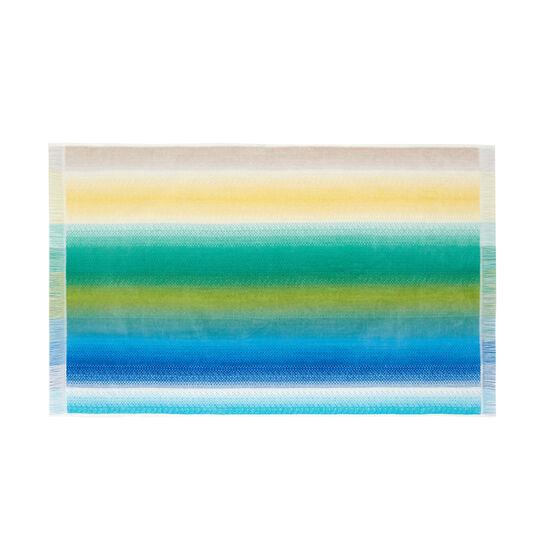 Asciugamano velour puro cotone righe multicolore