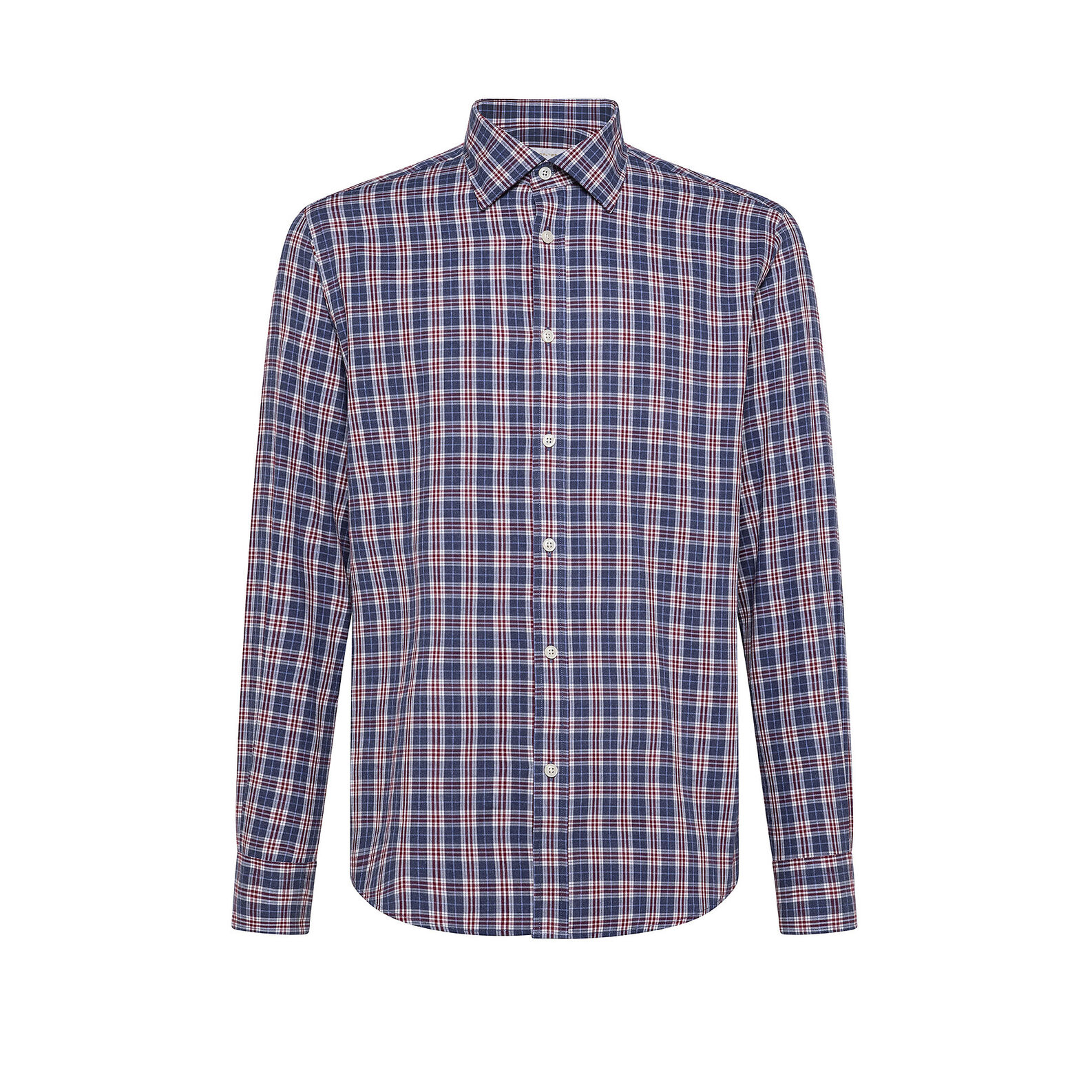 Tailored-fit button-down shirt in organic cotton