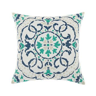 Jacquard patterned majolica cushion