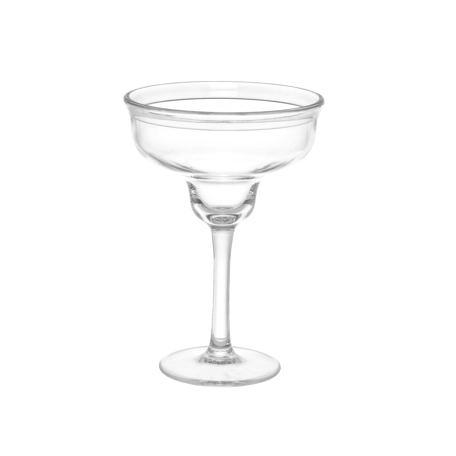 MS plastic margherita glass