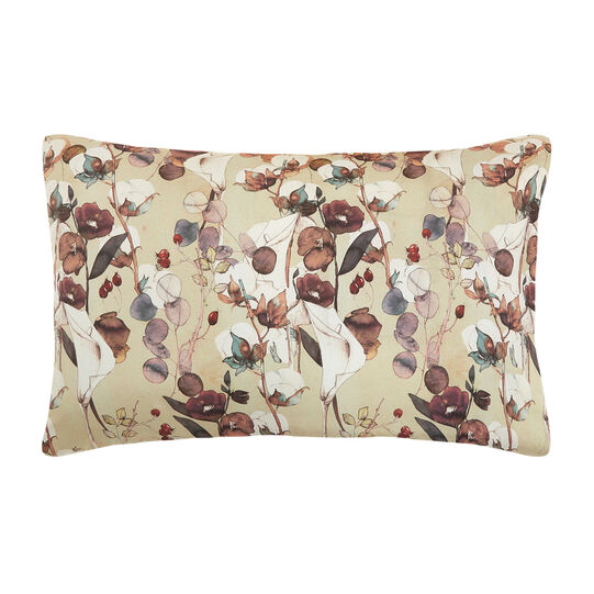Cotton percale pillowcase with cotton flower pattern