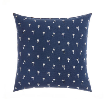 Cotton cushion with palms print
