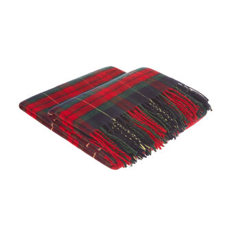 Tartan motif throw