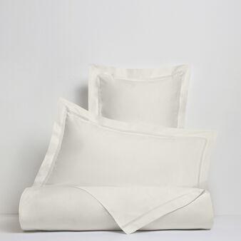 Portofino duvet cover in 100% cotton percale with drawn thread work