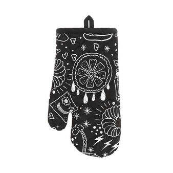 Oven mitt in 100% cotton with food print