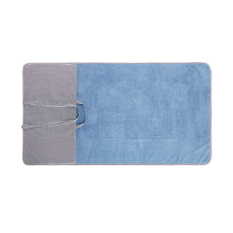 Cotton terry towel with pillow
