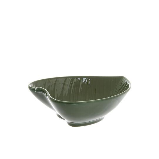 Small leaf-shaped porcelain bowl