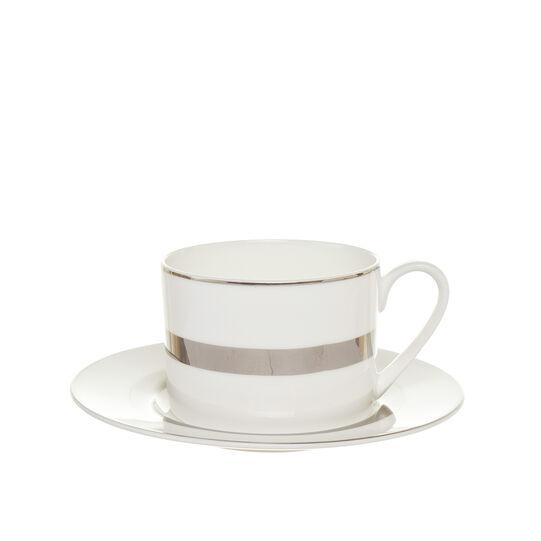 Silver Fine Bone China tea cup