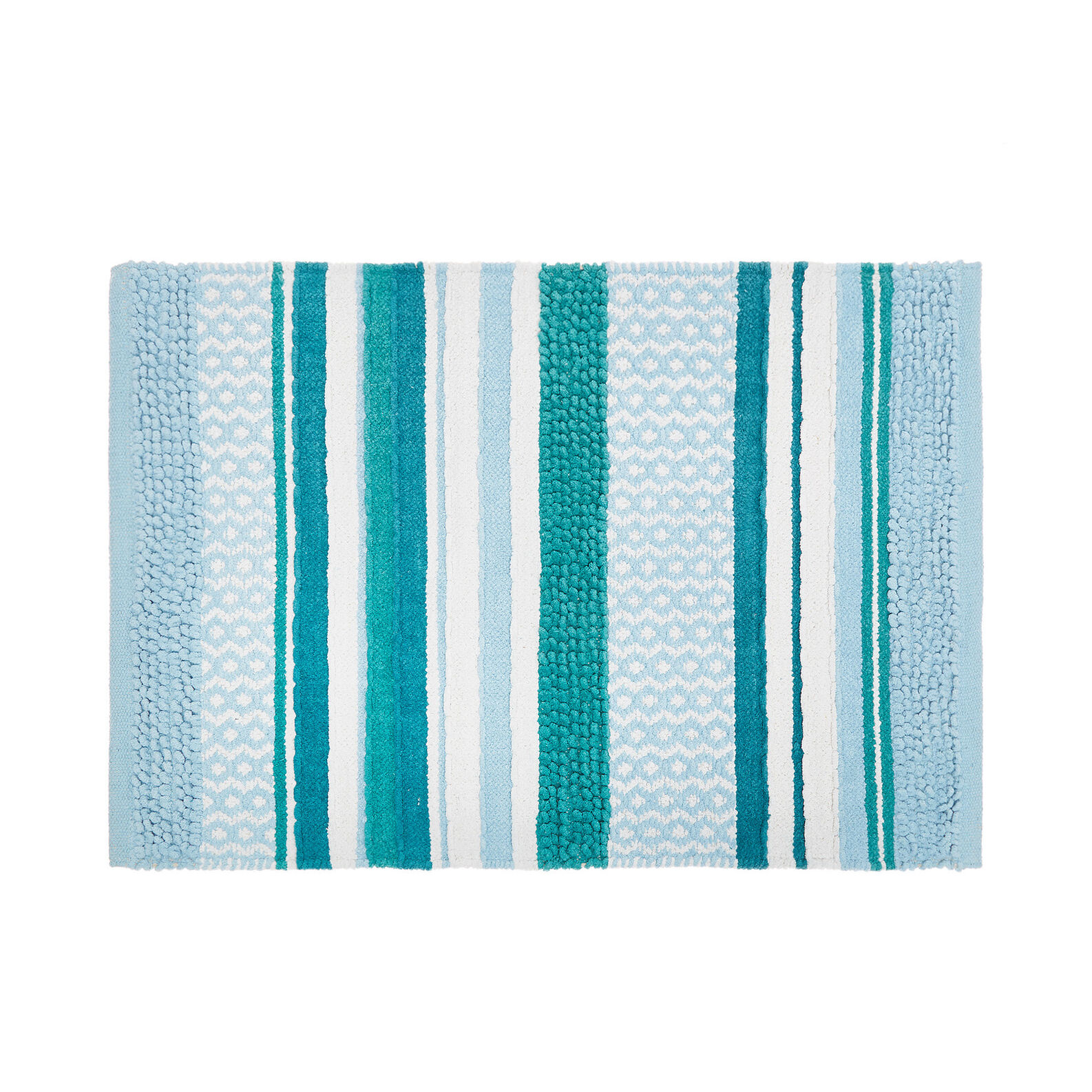100% cotton bath mat with patchwork motif