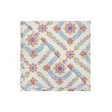 Set tovaglia e tovaglioli puro cotone floreale geometrico