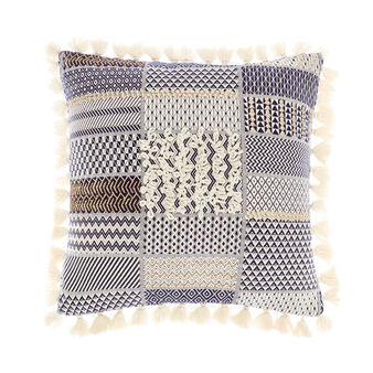 Cuscino patchwork motivi geometrici