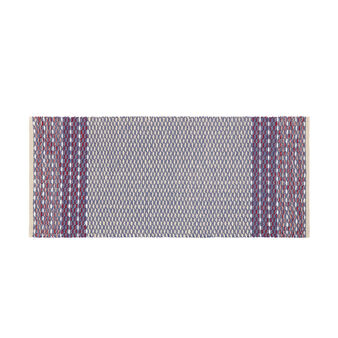 Yarn-dyed kitchen mat in 100% cotton with check motif