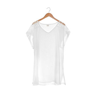 T-shirt ricamo applicato