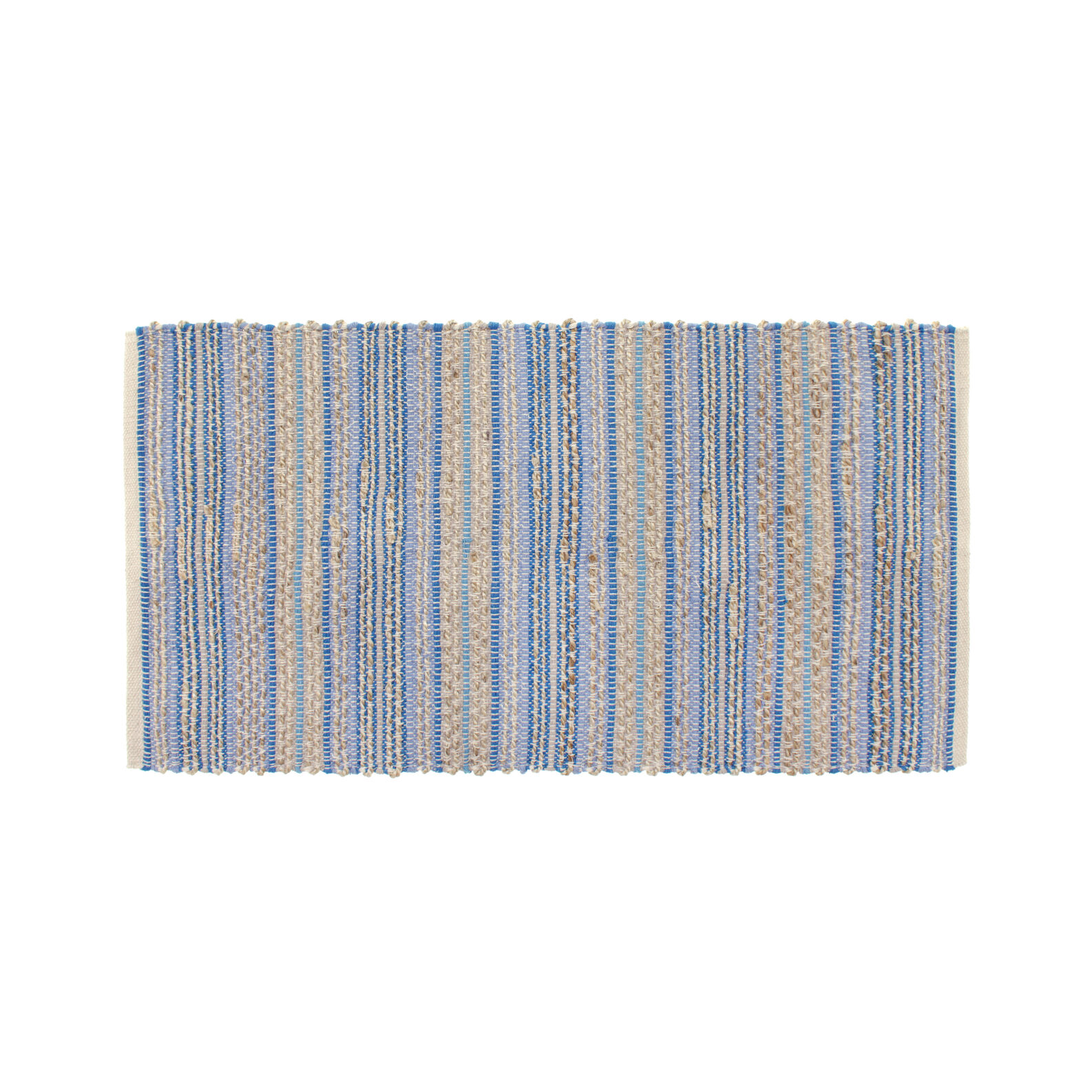 Kitchen mat in striped cotton and jute
