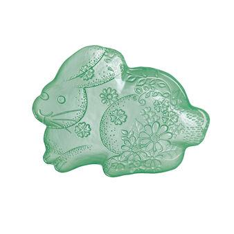 Rabbit-shaped glass plate