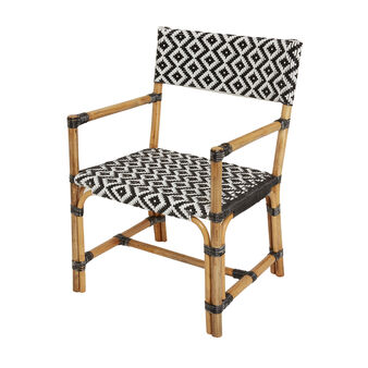 Synla armchair in plastic and rattan