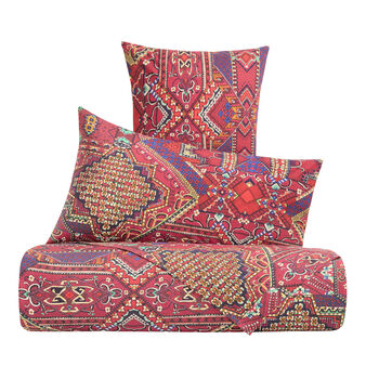 Duvet cover set in cotton percale with Mexican pattern