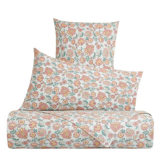 Organic cotton pillowcase with flower pattern