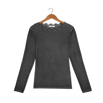 Stonewashed cotton jersey top