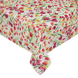 100% cotton tablecloth with tulip print