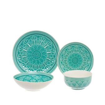 Linea tavola in ceramica decorata Noa