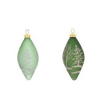 Hand-decorated spindle with forest decoration