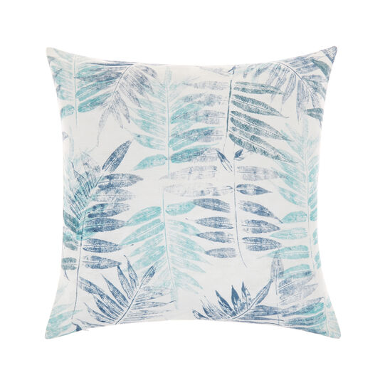 Cushion in recycled fabric with leaf print 50x50 cm