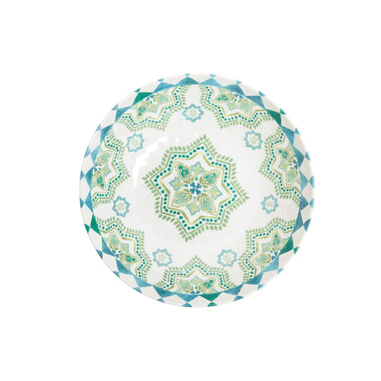 Melamine soup bowl with Morocco decoration
