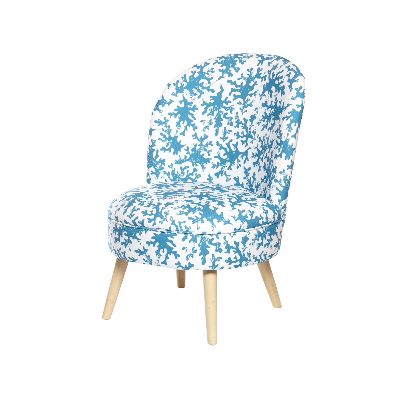 Blucoral chair in cotton and wood