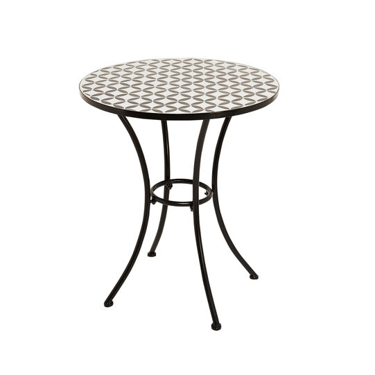 Fez coffee table with mosaic in steel