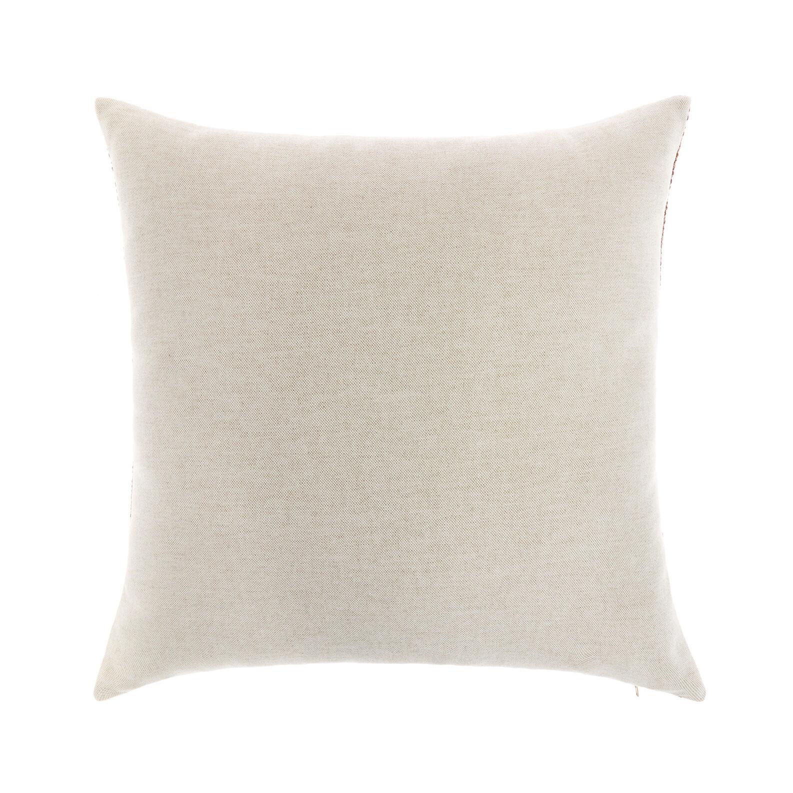 Multi-coloured bouclé weave cushion 45x45cm