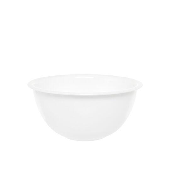 Easy white glass bowl
