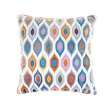 Velvet cushion with abstract design 45x45cm