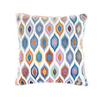 Velvet cushion with abstract design 45x45cm